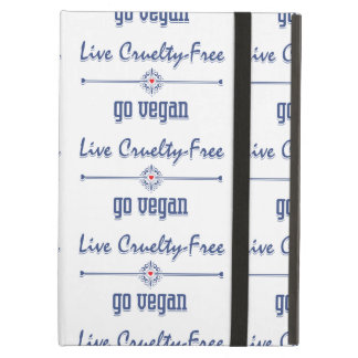 Live Cruelty Free, Go Vegan Cover For iPad Air