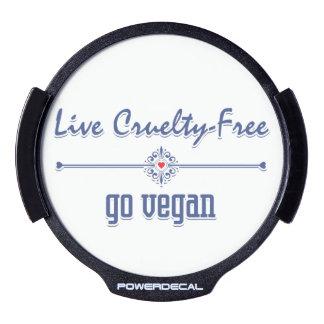 Live Cruelty Free, Go Vegan LED Window Decal