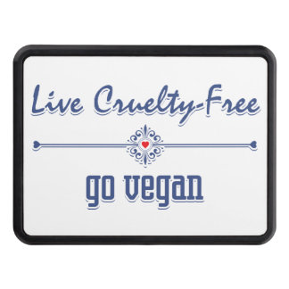 Live Cruelty Free, Go Vegan Tow Hitch Cover