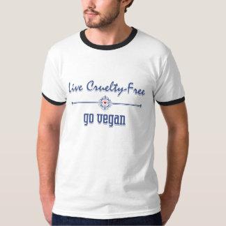 Live Cruelty Free, Go Vegan Tee Shirt