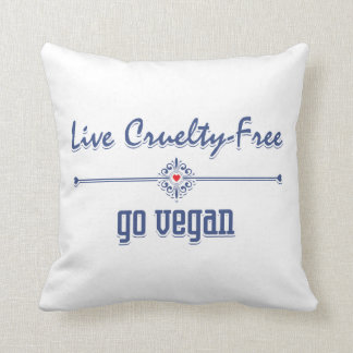 Live Cruelty Free, Go Vegan Throw Pillow