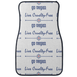 Live Cruelty Free, Go Vegan Car Mat