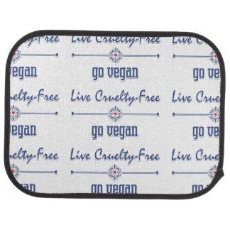 Live Cruelty Free, Go Vegan Floor Mat