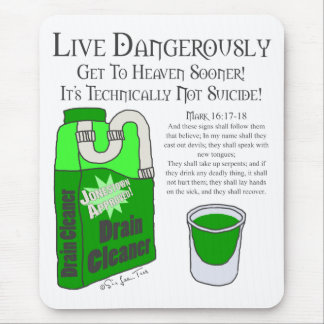 Live Dangerously Mouse Pad
