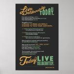 Live Deliberately: A Manifesto Poster