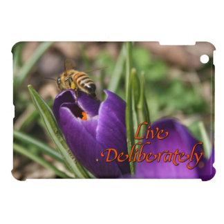 Live Deliberately w/honey bee pollinating Crocus iPad Mini Case