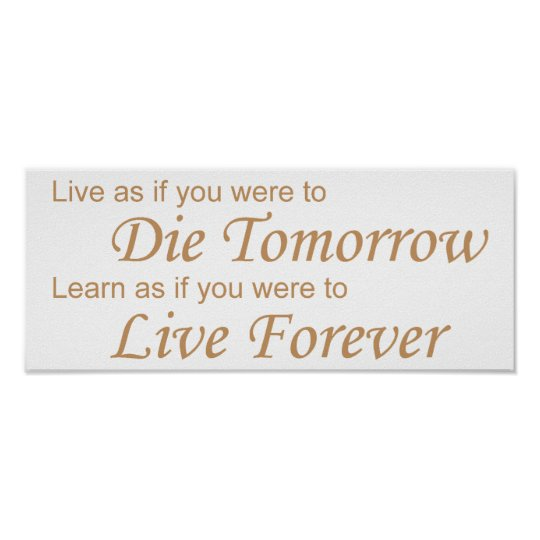 Live - Die Tomorrow yellow Poster