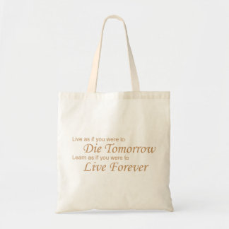 Live - Die Tomorrow yellow Tote Bag