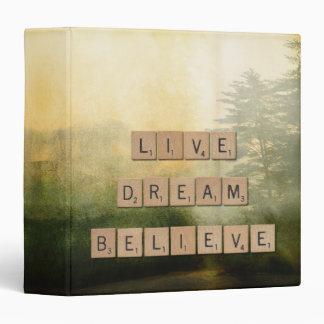 Live, Dream, Believe Inspiration Binder
