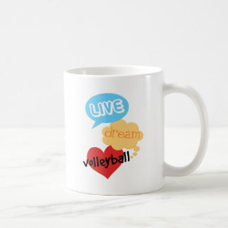 Live Dream Volleyball Classic White Coffee Mug