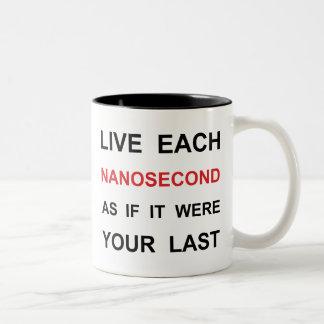 Live Each Nanosecond Two-Tone Coffee Mug