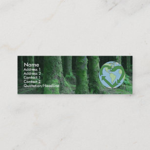 Earth friendly business cards templates zazzle live earth friendly mini business card reheart Choice Image