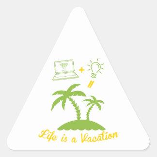 Live es vacaciones pegatina triangular