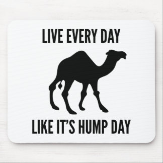 Live Every Day Like It's Hump Day Mouse Pad