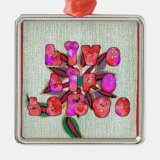 Live Experience Life Large Gifts.jpg Metal Ornament