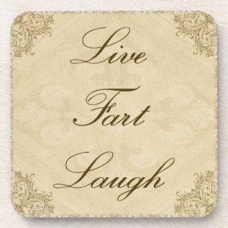 Live Fart Laugh Coaster