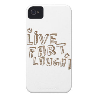 *LIVE FART LAUGH! iPhone 4 Case-Mate CASE