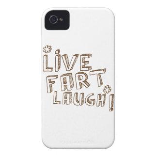 *LIVE FART LAUGH! iPhone 4 Case-Mate CASE