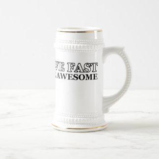 Live Fast Die Awesome 18 Oz Beer Stein