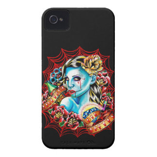 Live Fast Die Pretty Zombie Pin Up Tattoo Flash iPhone 4 Case