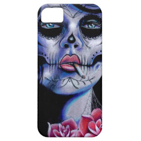 Live Fast Die Young Day of the Dead Portrait iPhone 5 Cover