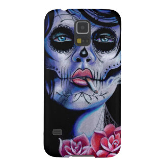 Live Fast Die Young Day of the Dead Portrait Case For Galaxy S5