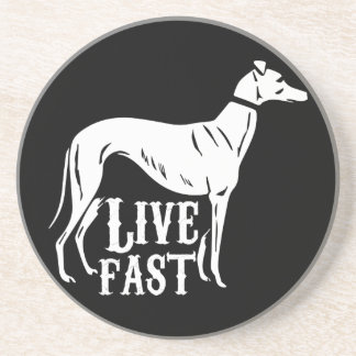 Live Fast Drink Coaster