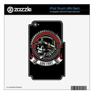 Live Fast iPod Touch 4G Decal