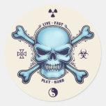 Live Fast, Play Hard Classic Round Sticker
