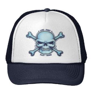 Live Fast, Play Hard Trucker Hats