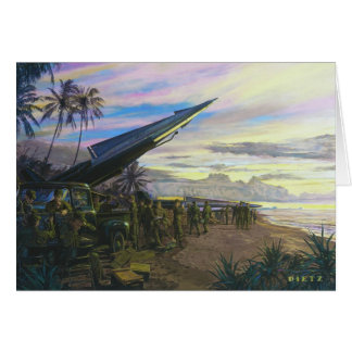 Live Fire at Kahuku by Jim Dietz Greeting Card