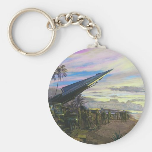 Live Fire at Kahuku by Jim Dietz Key Chain