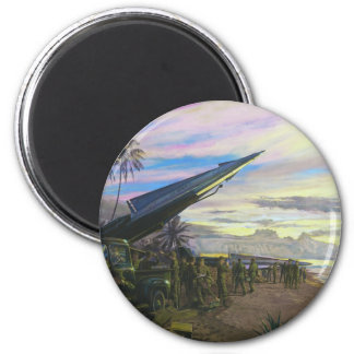 Live Fire at Kahuku by Jim Dietz 2 Inch Round Magnet