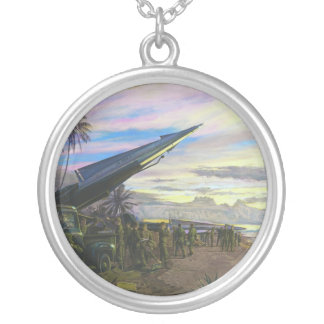 Live Fire at Kahuku by Jim Dietz Round Pendant Necklace