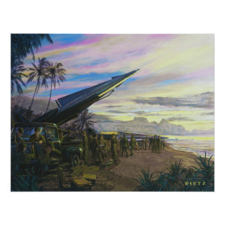 Live Fire at Kahuku by Jim Dietz Poster