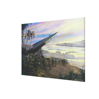 Live Fire at Kahuku by Jim Dietz Print Stretched Canvas Print