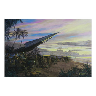 Live Fire at Kahuku by Jim Dietz.Print Poster