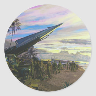 Live Fire at Kahuku by Jim Dietz Classic Round Sticker