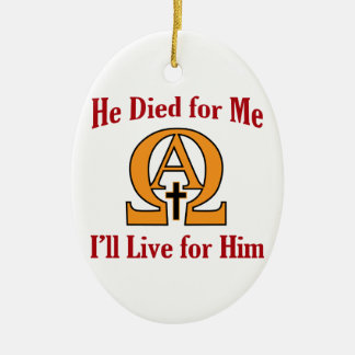 Live For Jesus Ceramic Ornament
