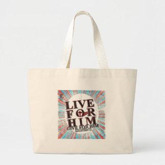 Live for Jesus Large Tote Bag