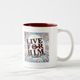 Live for Jesus Two-Tone Coffee Mug