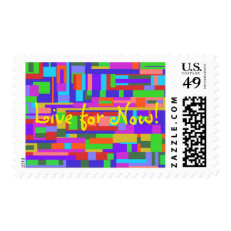 """Live for Now! Med 2.1"""" x 1.3"""" $0.47 (1stClass 1oz) Postage"""