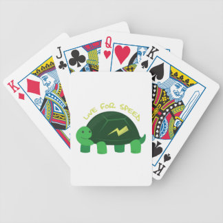 Live For Speed Bicycle Playing Cards