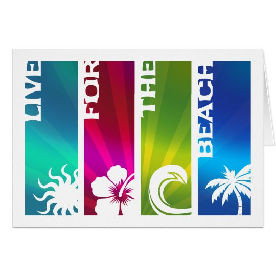 Live for the Beach Card