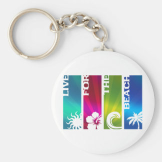 Live for the Beach Keychain
