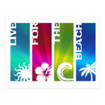 Live for the Beach Postcard