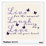 Live for the Moment Motivational Wall Decal