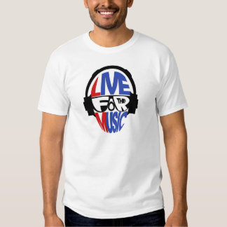 Live For The Music - Mitchy Teee Tee Shirts