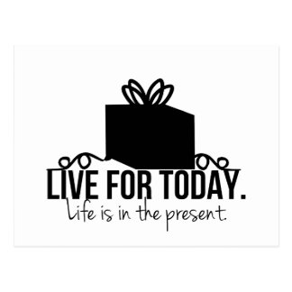Live for Today Inspirational Postcard