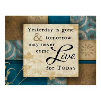 Live for Today Postcard